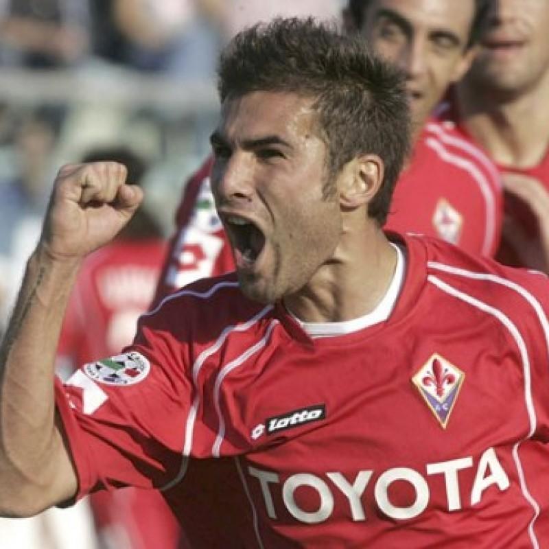 Mutu's Fiorentina Match Shirt, TIM Cup 2008/09