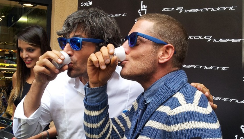 Italian independent sun glasses worn and signed by luca for Lapo elkann glasses