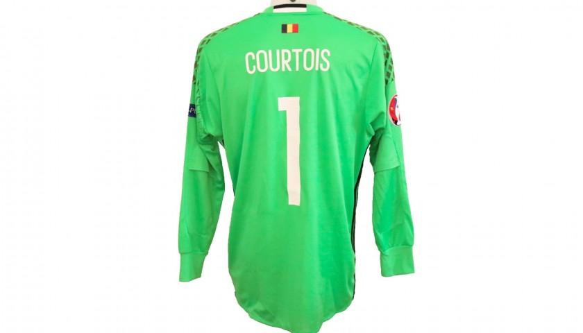 738192859cb Courtois  Match-Issue Belgium-Italy Shirt
