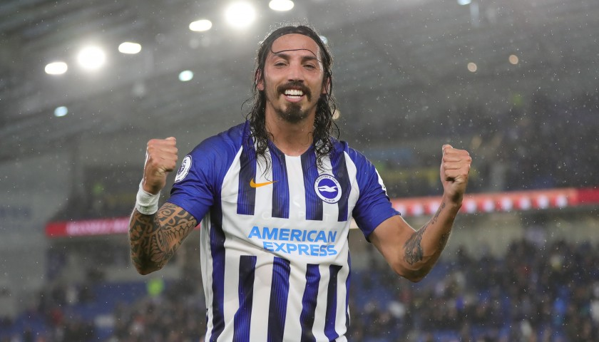Ezequiel Schelotto's Brighton & Hove Albion Match-Issued and Signed Shirt, 2019/20