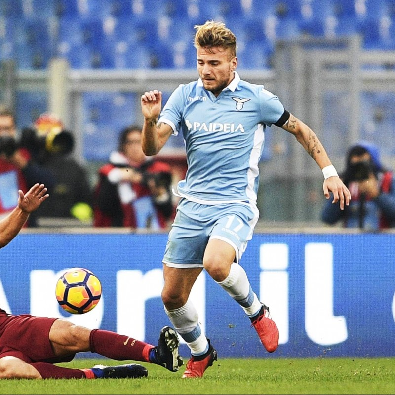 Immobile's Match-Issue/Worn Shirt, Lazio-Roma 2016