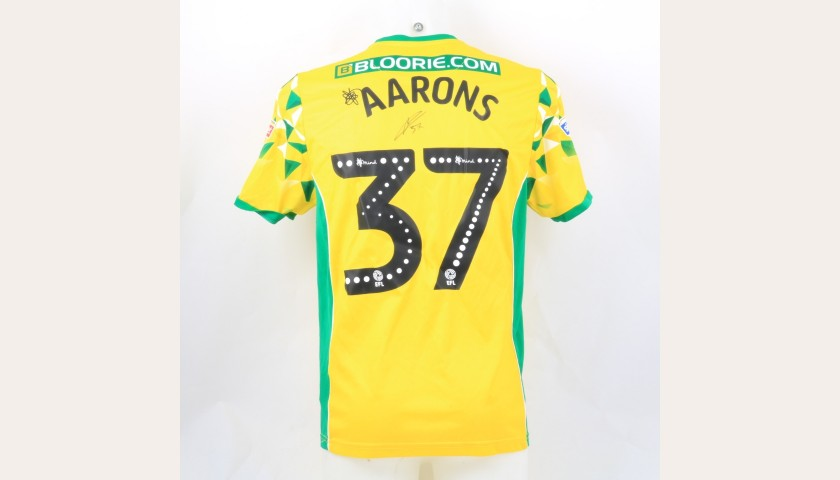 Aarons' Norwich Poppy Match Shirt - Signed