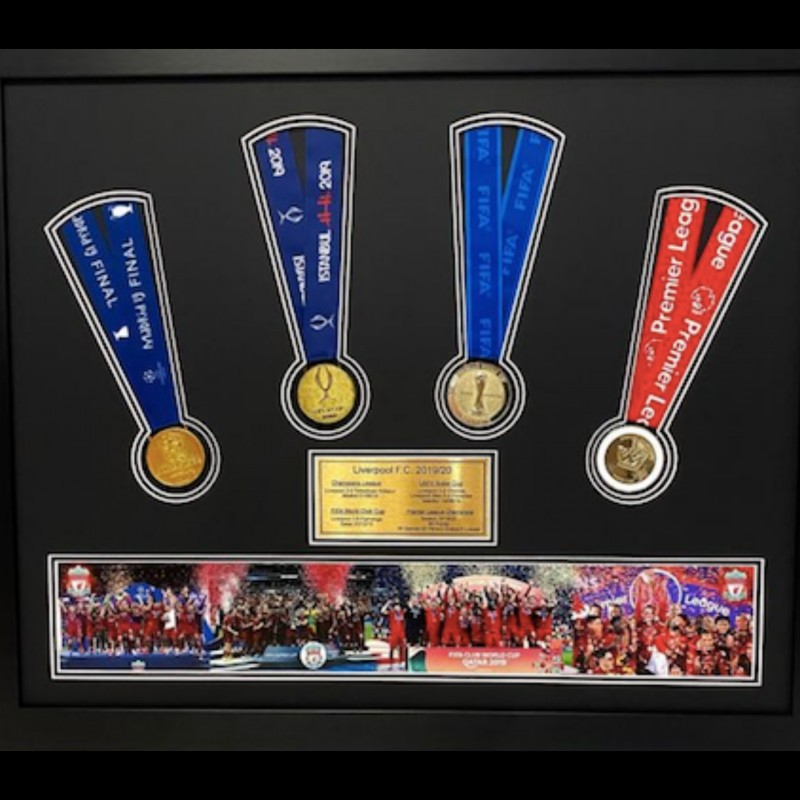Liverpool FC - Replica Medal Display (2019/20)