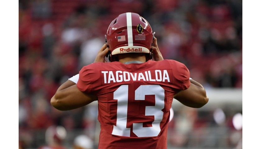 Crimson Tide & Miami Dolphins Jerseys from Tua Tagovailoa, Hand Signed & Personally Dedicated To You!