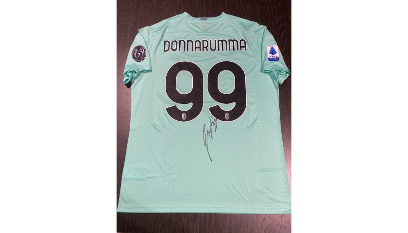 Donnarumma's Official Milan Signed Shirt, 2020/21