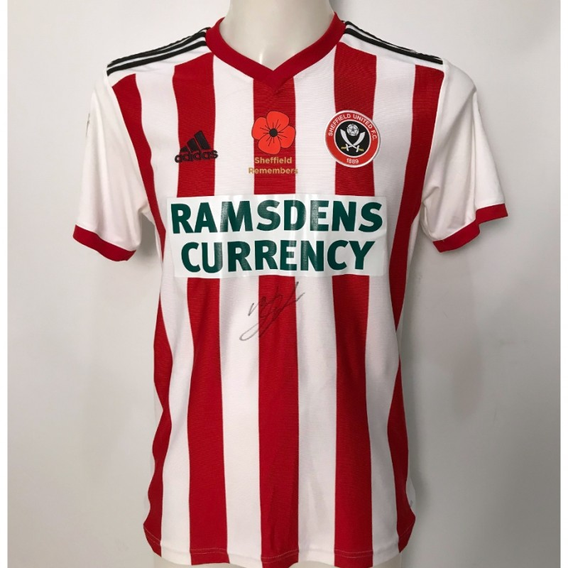 Marvin Johnson's Sheffield United Signed Poppy Home Shirt