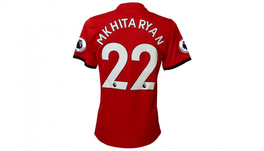 Henrikh Mkhitaryan Match-Worn, Washed & Signed Manchester United FC Shirt