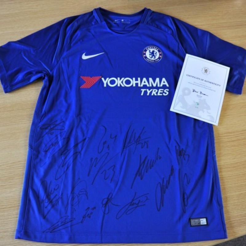 Official shirt signed by members of the Chelsea FC first team