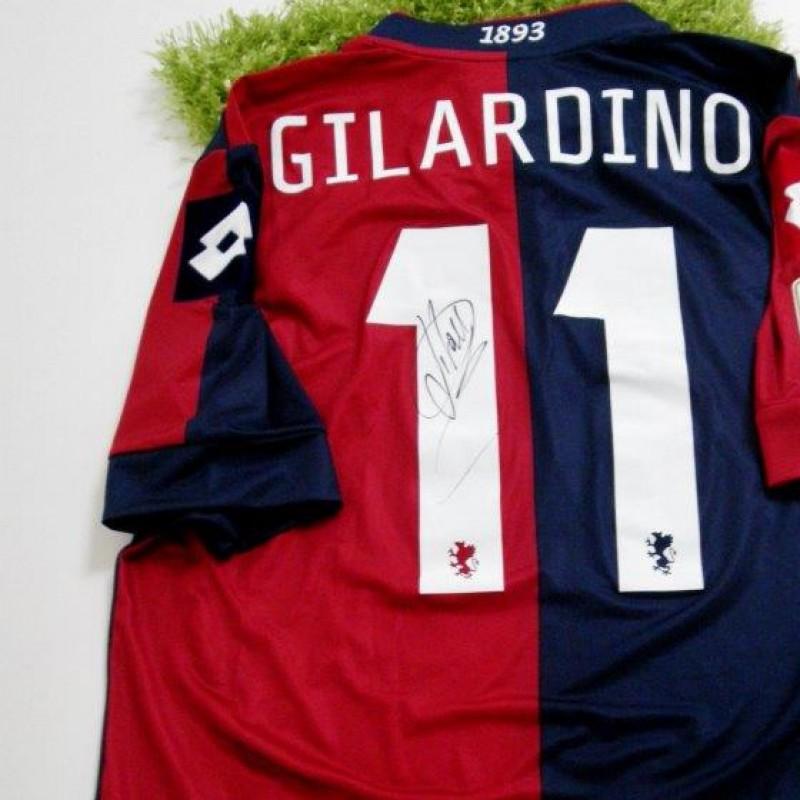 Genoa match issued shirt, Gilardino, Serie A 2013/2014 - signed