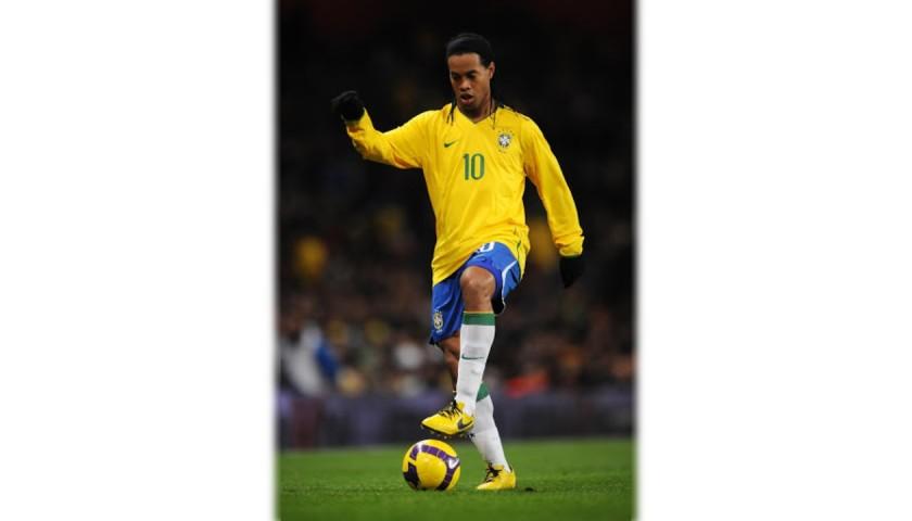 Ronaldinho's Brazil Match Shirt, World Cup Qualifiers 2010