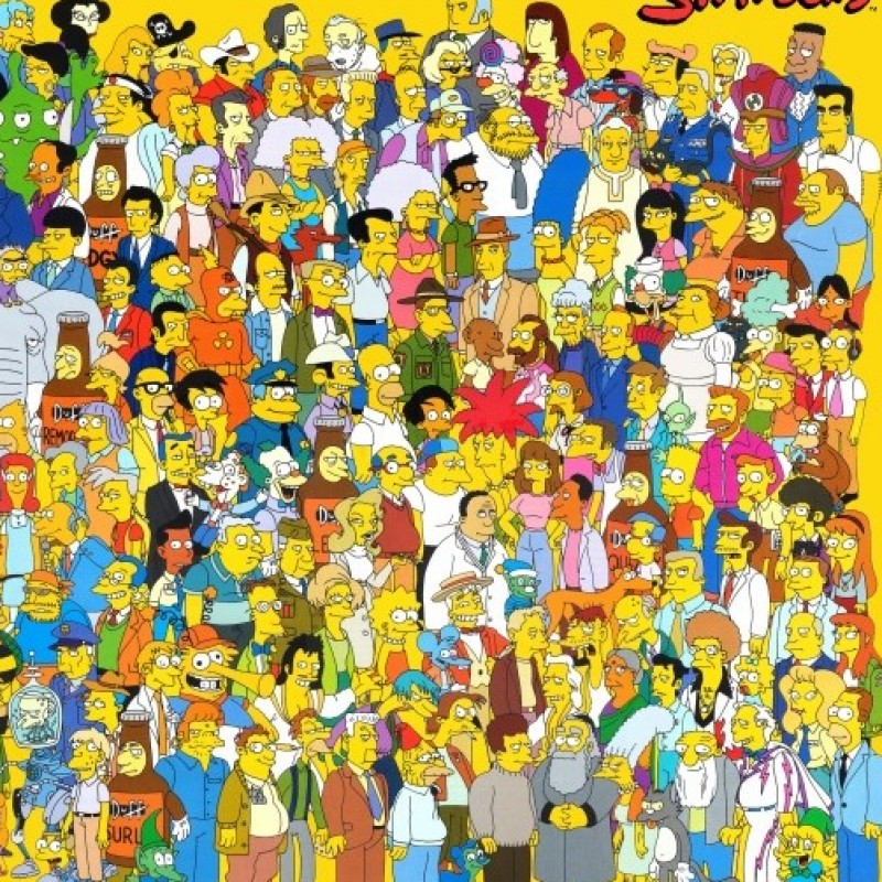The Simpsons - Original Drawings of Simpson Characters