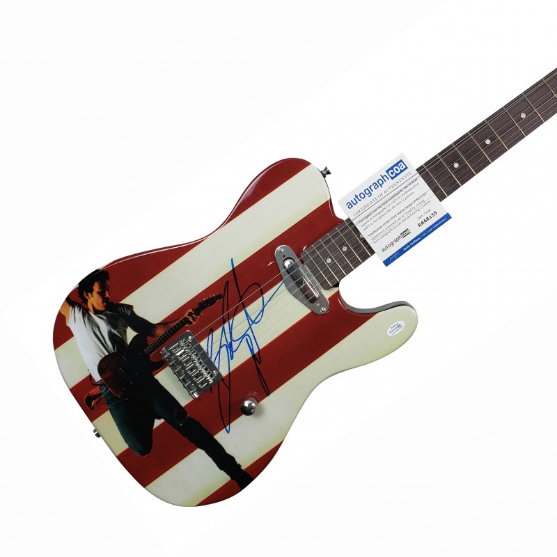 Bruce Springsteen Hand Signed Guitar