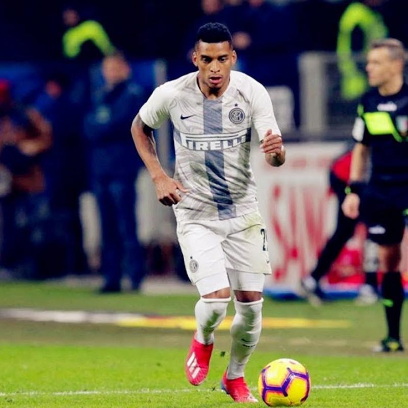 Dalbert's Inter Worn and Signed Shorts, 2018/19