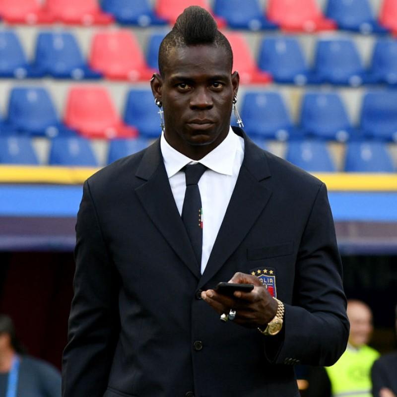 Italy National Football Team Jacket Worn by Mario Balotelli