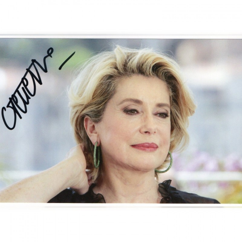Catherine Deneuve Signed Photograph