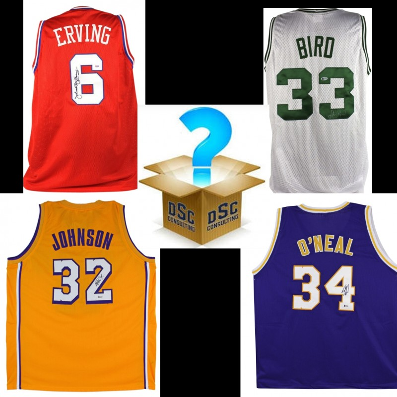 Basketball Legends Mystery Box: Hand Signed Jersey