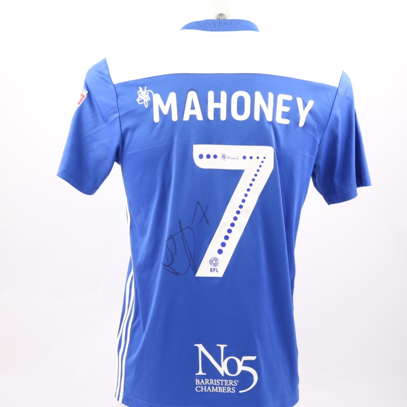 Mahoney's Birmingham City FC Worn and Signed Poppy Shirt