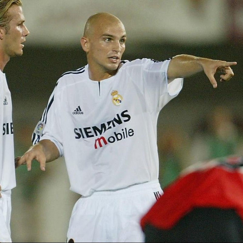 Cambiasso's Official Real Madrid Signed Shirt, 2002/03