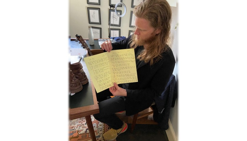 The Lumineers 'Ho Hey' Handwritten Lyric Sheet