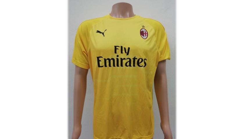Donnarumma's AC Milan Match-Issue Signed Shirt, 2018/19