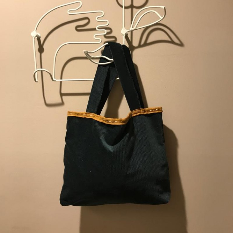 Laura Zagari Handmade Green Bag