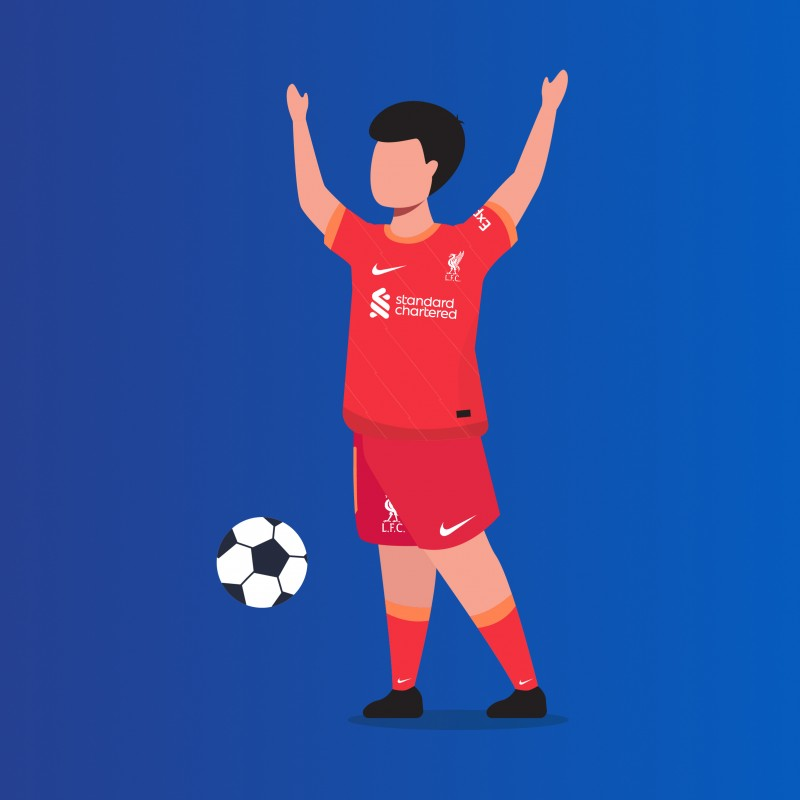 Child Mascot Virtual Package for LFC vs Manchester City