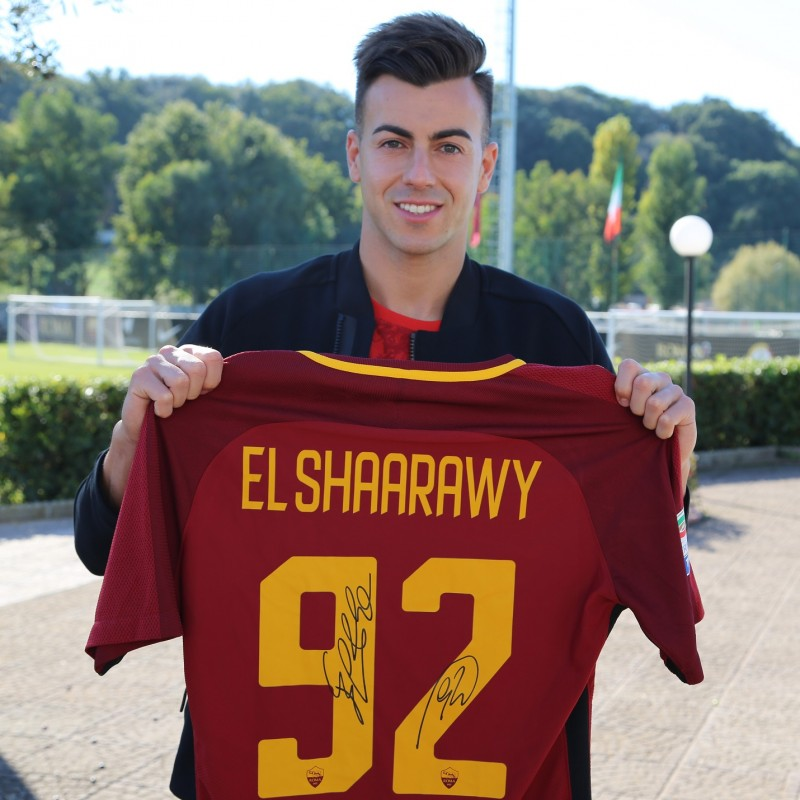 El Shaarawy's Match-Issued and Signed Roma Shirt, 2017/18