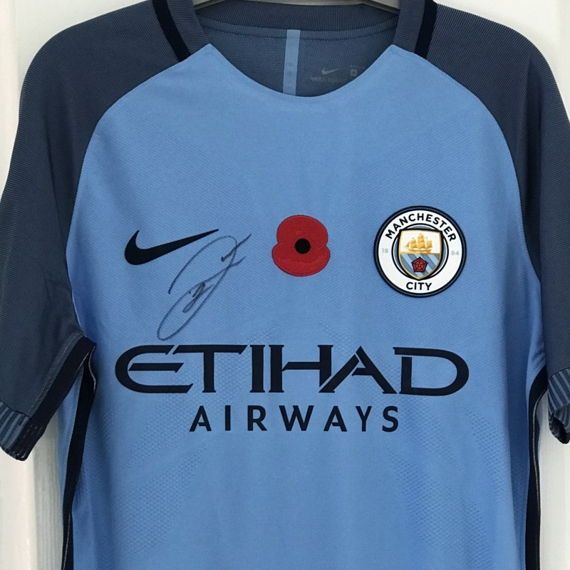 Raheem Sterling 2016 Signed Poppy Shirt