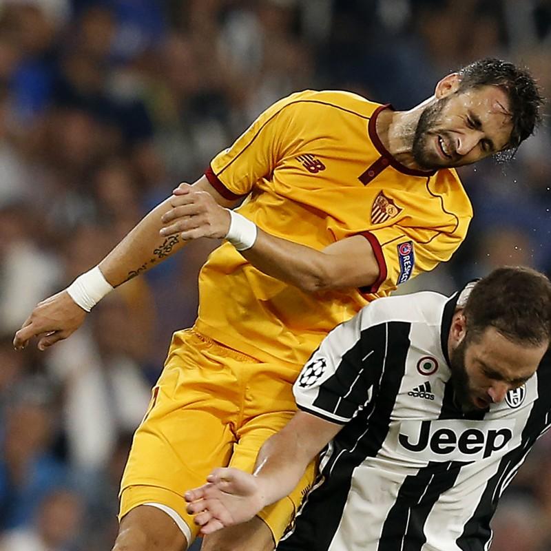 Nico Pareja Match Worn Shirt, Juventus-Sevilla 14/09/16