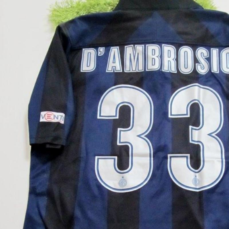 D'Ambrosio match worn/issued shirt, Inter-Chievo Verona, Serie A 13/14