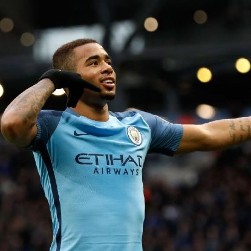 Signed Gabriel Jesus Manchester City 2016/17 Shirt