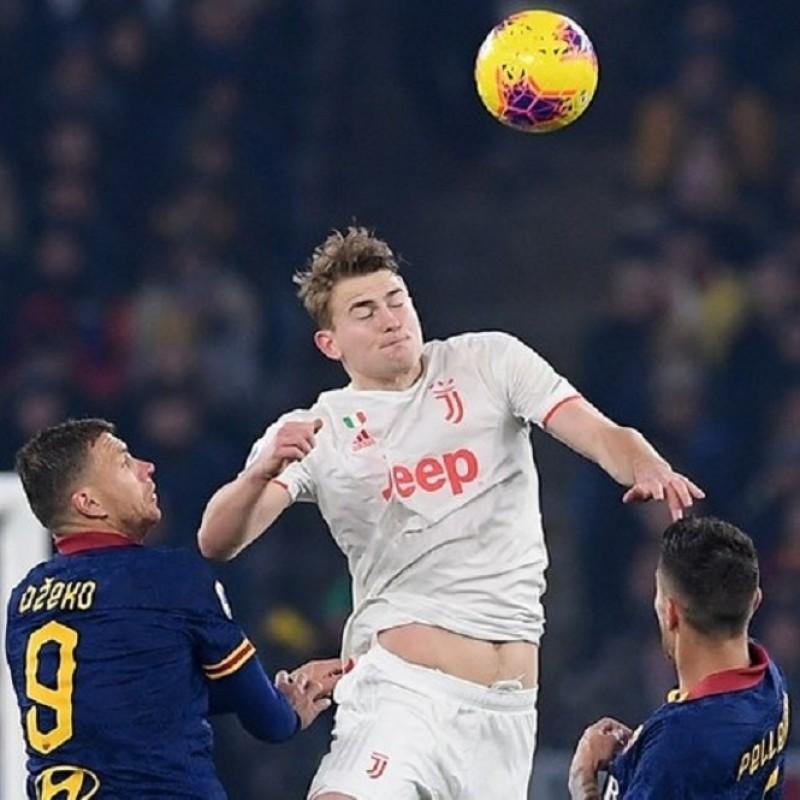 De Ligt's Signed Match Shirt, Roma-Juventus 2019/20