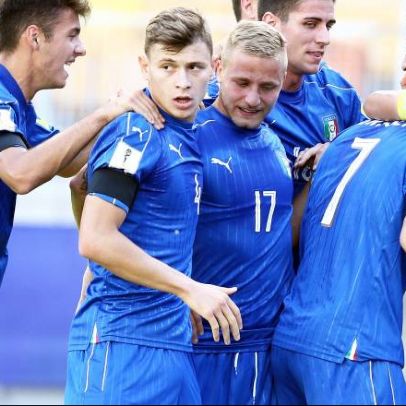 Barella's Italy Match Shirt, U20 2017 World Cup