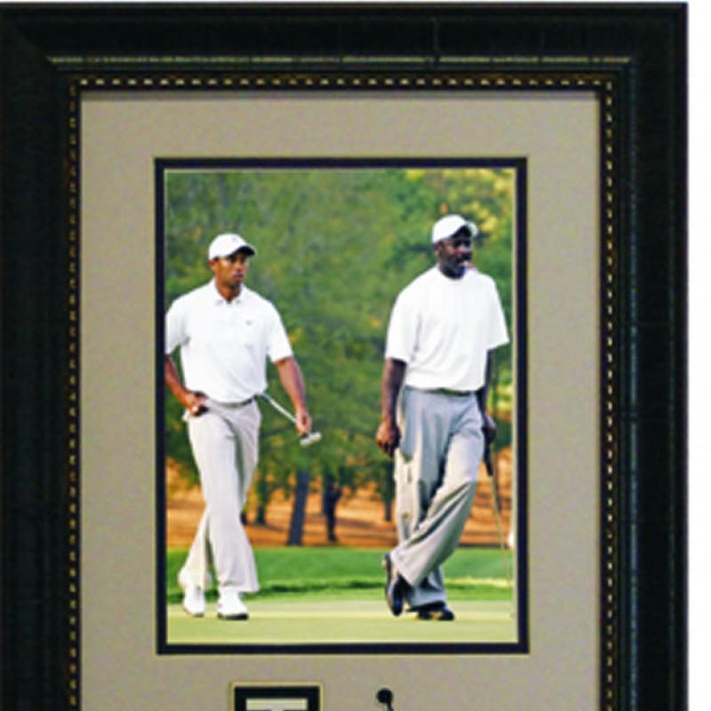 Tiger Woods and Michael Jordan Pro Am Framed Photograph