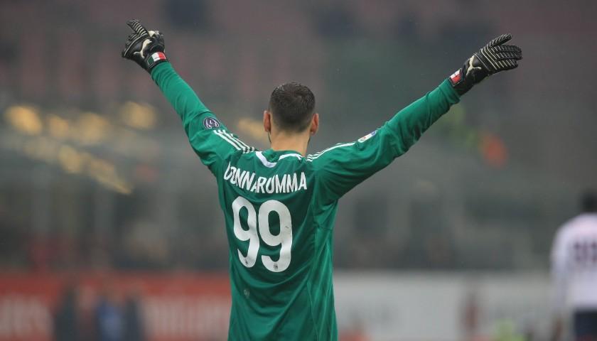 Donnarumma's Signed Match-Issued Milan Shirt, EL 2017/18