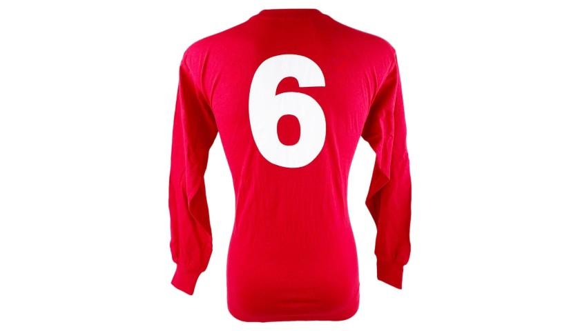 England Retro Football Shirt, 1966 - Signed by Bobby and Jack Charlton