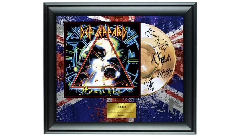 Def Leppard Custom Framed Gold Record Display
