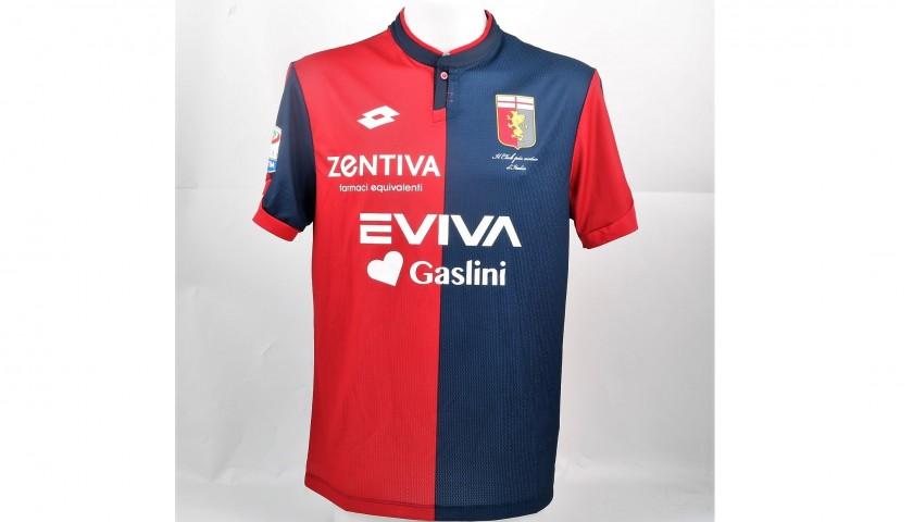 Pellegri's UNWASHED Special Genoa-Sampdoria Bench-Worn Shirt