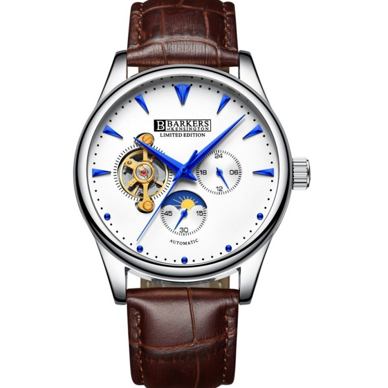 Barkers of Kensington Automatic Watch with High Grade Leather