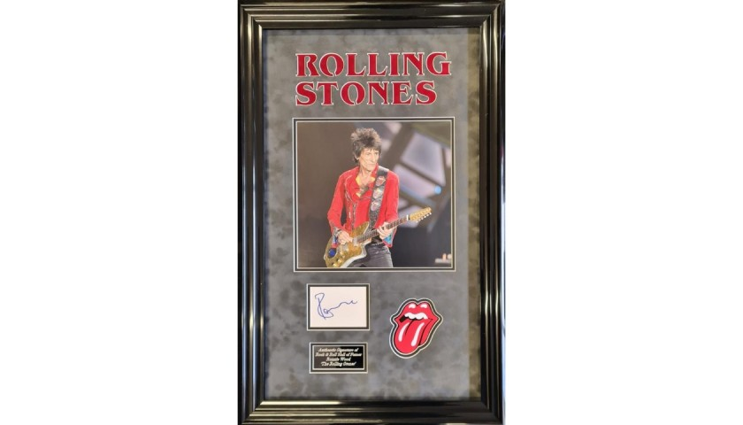 Ronnie Wood Rolling Stones Signed Display