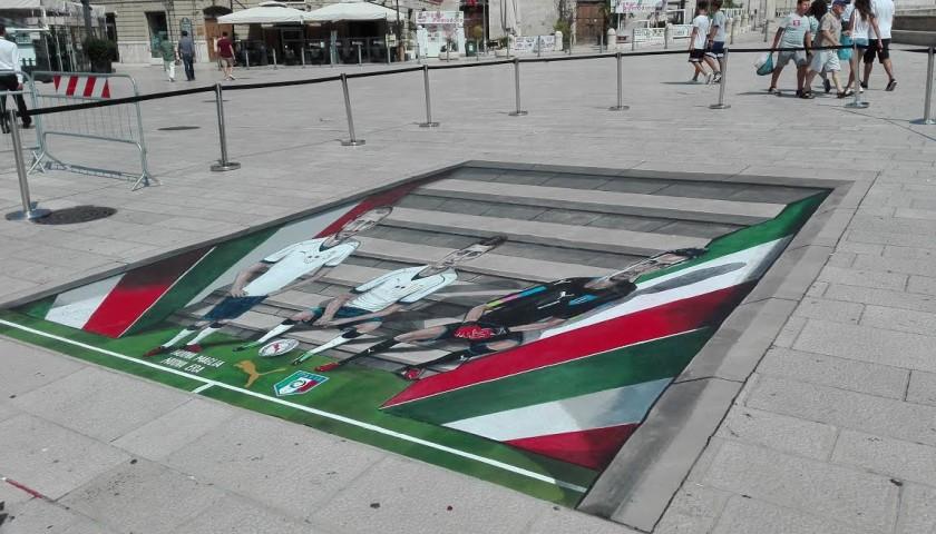 3D Puma Artwork by Joe and Max - Signed by Buffon, Verratti and Chiellini