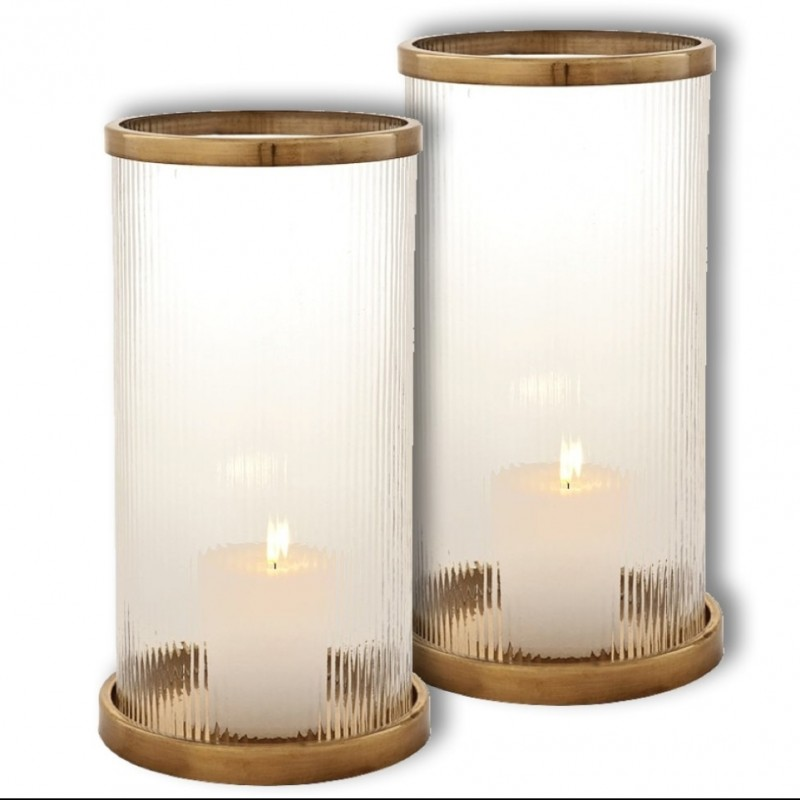 Two Harrington Hurricane Candleholders by Eichholtz