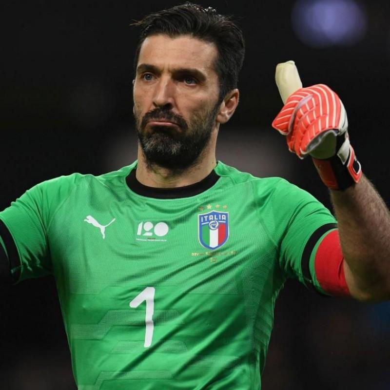 Buffon's Match Kit, Argentina -Italy 2018 + Captain's Armband