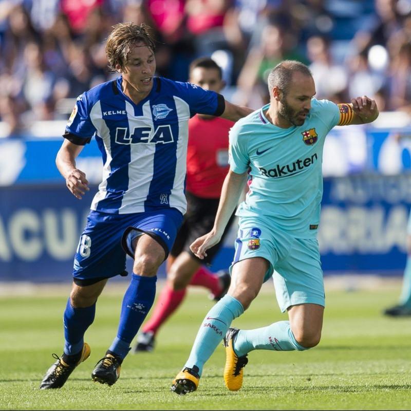 Iniesta's Barcelona Match Shirt, 2017/18