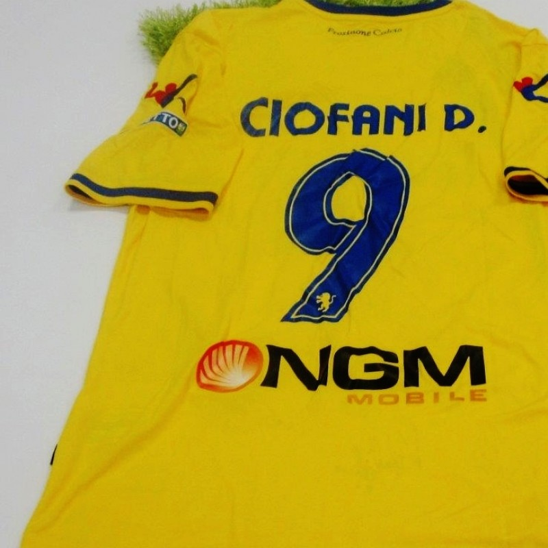 Ciofani Daniel Frosinone match worn/issued shirt, Serie B 2014/2015 - signed