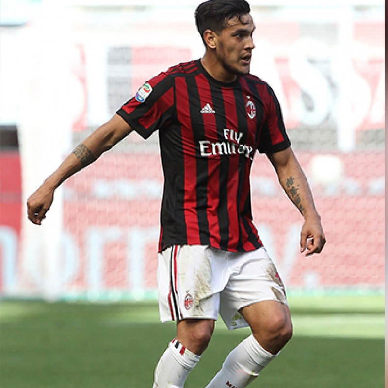 Gomez's Match-Issued Milan-Inter Shirt with Special Patch