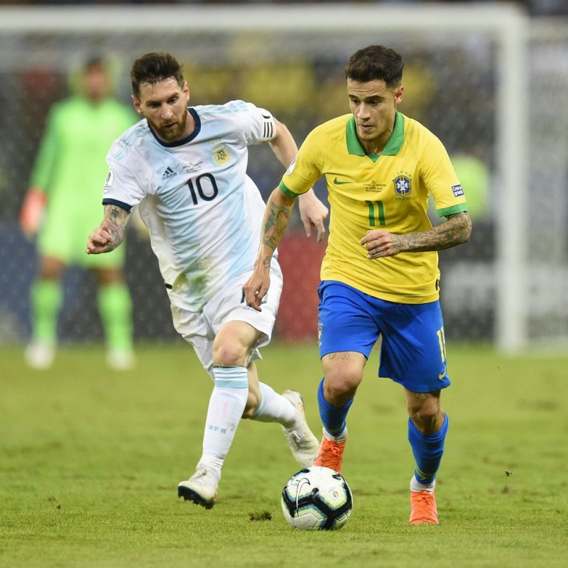 Coutinho's Match Shirt, Brazil-Argentina 2020 - Signed by the Squad