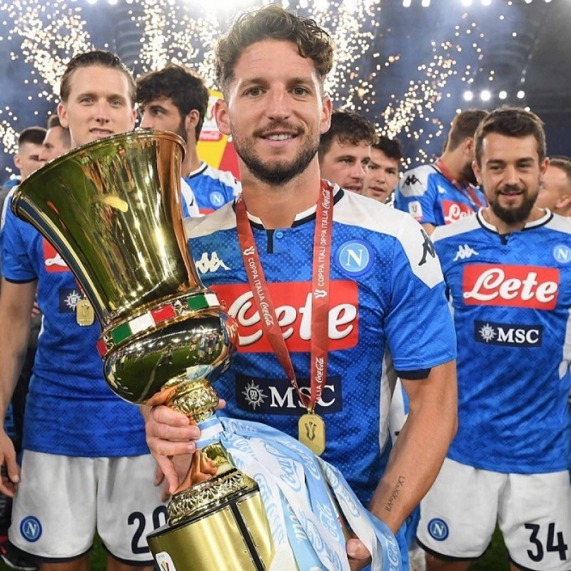 Mertens' Napoli Match-Issued Signed Shirt, Coppa Italia 2020