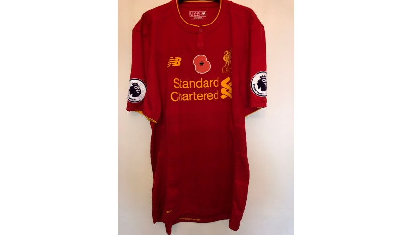 Firmino's Poppy Match Shirt, Liverpool-Watford 2016