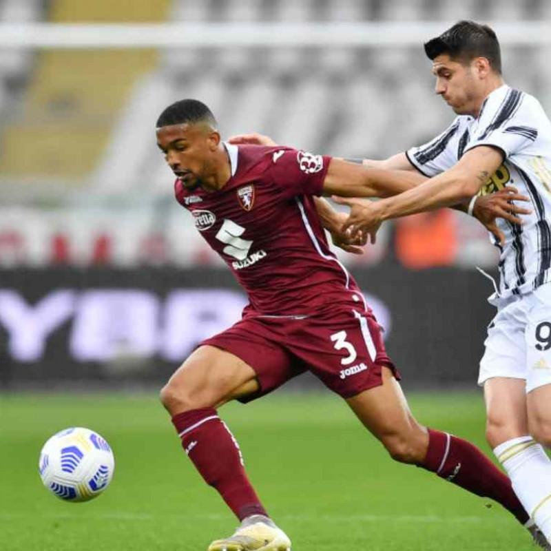 Bremer's Worn Match Shirt, Torino-Juventus 2021